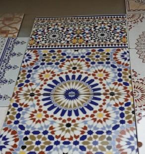 Marokkaanse geglazuurde vloertegels (Zellige)